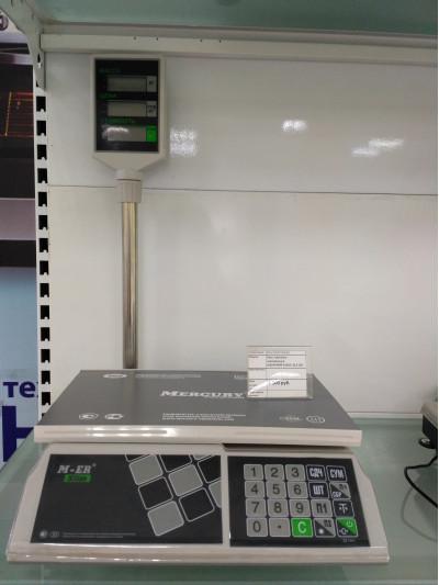 Весы торговые электронные МЕРКУРИЙ-326АСР-32.5 LED