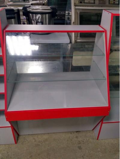 Прилавок из ЛДСП  1150x900x600 стекло