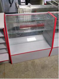 Прилавок из ЛДСП  900x900x500 стекло
